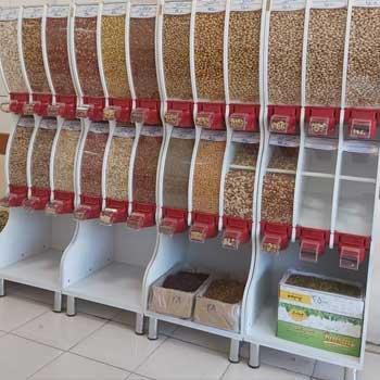 قفسه هایپرمارکتی آجیل و خشکبار