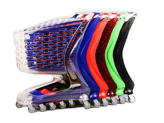 چرخ خرید هایپری 90 لیتری پلی کربنات