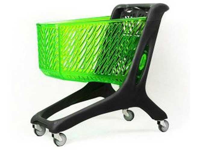 چرخ خرید هایپری 210 لیتری پلی کربنات